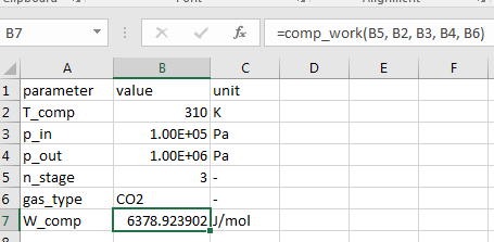 test excel vba coolprop